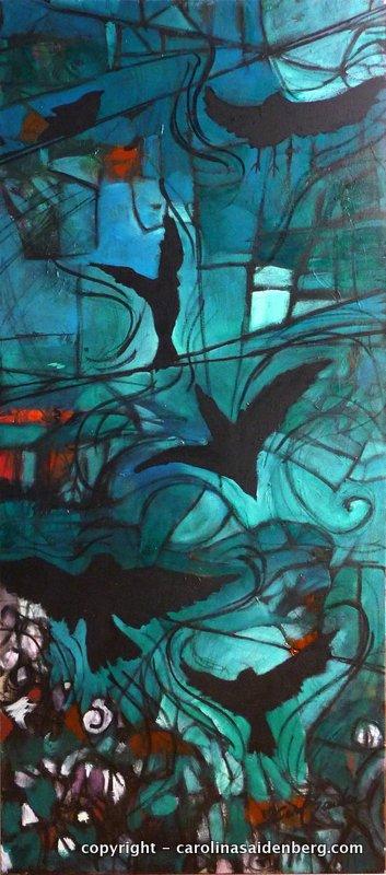 #158 - 2012 -Pássaros, 60x130cm, tela